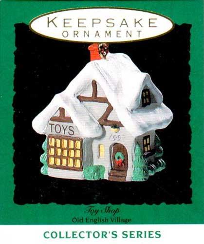 Hallmark /'1993 Toy Shop/' Old English Village 6th Series Miniature Ornament NIB!