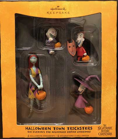 Hallmark Nightmare Before Christmas Ornaments.2008 Halloween Town Tricksters The Nightmare Before Christmas Htf