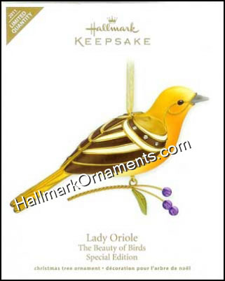2011 Lady Oriole, Beauty of Birds, LIMITED QUANTITY DB