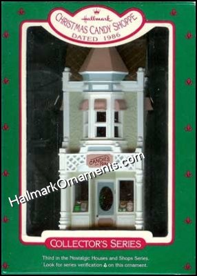1986 Christmas Candy Shoppe, Nostalgic Houses & Shops #3 - DB