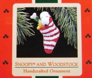 1988 Snoopy and Woodstck (Stocking)
