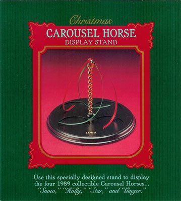 1989 Christmas Carousel Horse Collection Carousel Display Stand