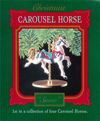1989 Christmas Carousel Horse Collection, Snow