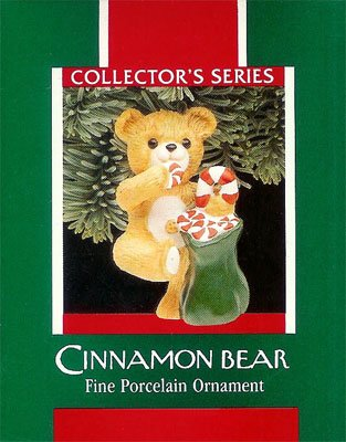 1989 Porcelain Bear - 7th  Cinnamon Bear with Candy
