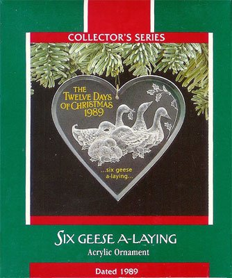 1989 Twelve Days of Christmas -  6th Six Geese A Laying