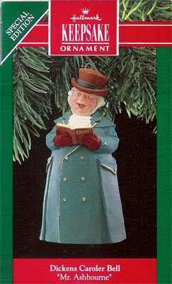 1990 Dickens Caroler Bell - 1st  Mr. Ashbourne