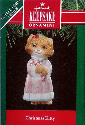 1991 Christmas Kitty - 3rd & Final  Kitten in Nightgown