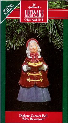 1991 Dickens Caroler Bell - 2nd  Mrs. Beaumont
