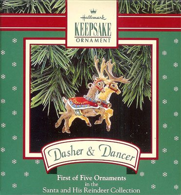 1992 Santa & His Reindeer - Dasher/Dancer