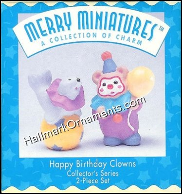 1996 Happy Birthday Clowns