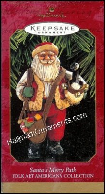 1997 Santa's Merry Path, Folk Art Americana