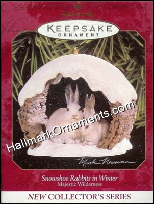 1997 Snowshoe Rabbits in Winter, Majestic Wilderness #1