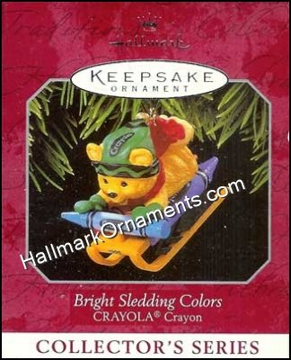 1998 Bright Sledding Colors, Crayola Crayon #10