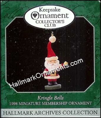 1998 Kringle Bells, Club Ornament