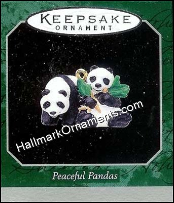 1998 Peaceful Pandas, Noah's Ark, Miniature