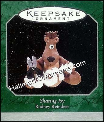 1998 Sharing Joy, Rodney the Reindeer, Miniature