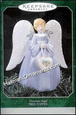 1998 Victorian Angel Miniature Tree Topper