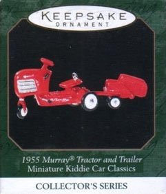 1999 1955 Murray Tractor and Trailer, Miniature Kiddie Car Classics #5