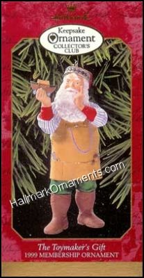1999 Toymakers Gift, Toymaker Santa Complement, Club Ornament