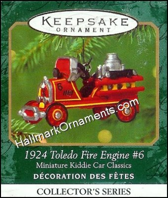 2001 1924 Toledo Fire Engine #6, Miniature Kiddie Car Classics #7