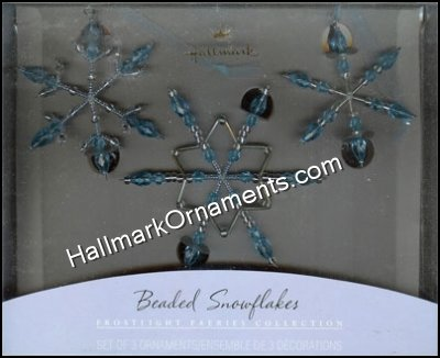 2001 Beaded Snowflakes - Blue, Frostlight Faeries