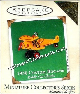 2002 1930 Custom Biplane, Miniature Kiddie Car Classics #8, COLORWAY