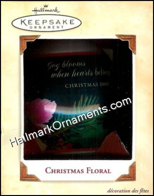 2002 Christmas Floral, Glass Ball