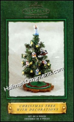 2002 Christmas Tree With Decorations, Santa's Big Night DB