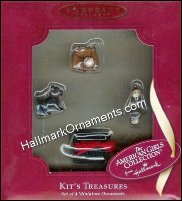 2002 American Girls Collection - Kit's Treasures Miniature Ornament Set