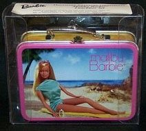 2002 Malibu Barbie Lunchbox, Barbie, Club Ornament - RARE