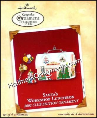 2002 Santa's Workshop Lunchbox, Club Ornament