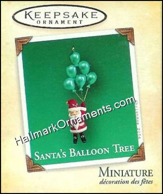 2004 Santas Balloon Tree, Miniature