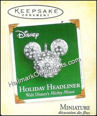 2005 Holiday Headliner, Disney, Miniature