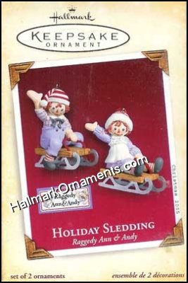 2005 Holiday Sledding, Raggedy Ann & Andy