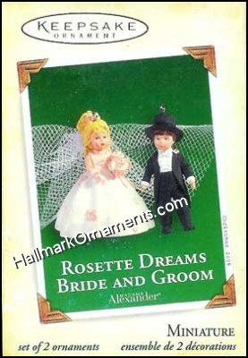 2005 Rosette Dreams Bride and Groom, Madame Alexander, Miniature