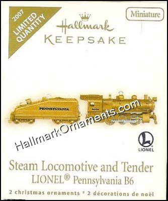 2007 Lionel Steam Locomotive & Tender, Miniature, LIMITED QUANTITY