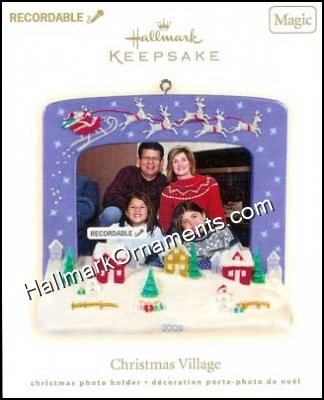 2009 Christmas Village - RECORDABLE Photo Holder