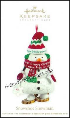 2011 Snowshoe Snowman, Club Ornament