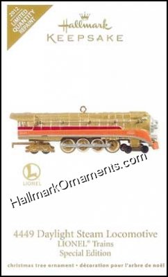 2012 Lionel 4449 Daylight Steam Locomotive, Limited Quantity