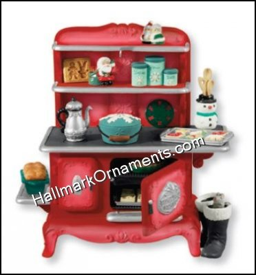 2013 Mrs. Claus's Stove, Club Ornament, Repaint - RARE - DB