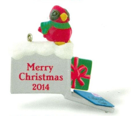 2014 A Merry Mailbox, Club Ornament, Miniature