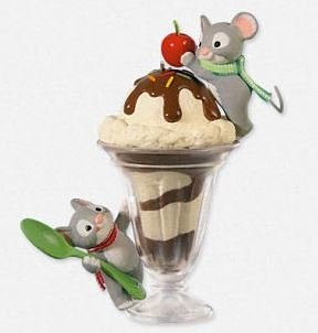 2014 Mice Cream Sundae, Club Ornament