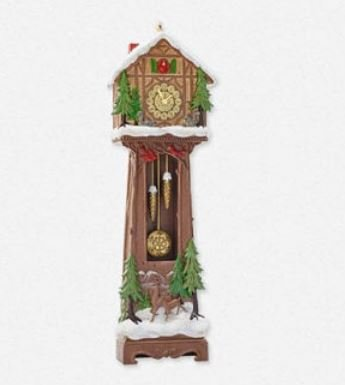 2014 Santa's Grandfather Clock, Club Ornament - DB