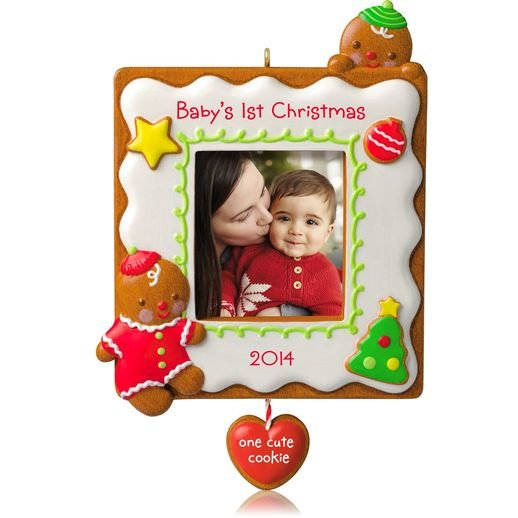 2014 Baby's 1st Christmas, One Cute Cookie, Photo Holder