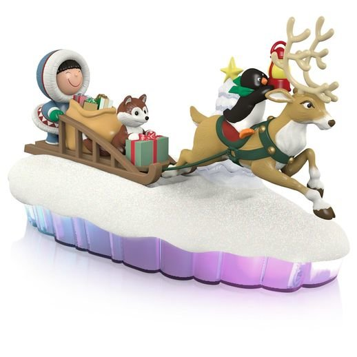 2015 Here Come Frosty Friends Sled Mantelscape, Magic Cord