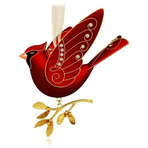 2015 Ruby Red Cardinal, Premium Ornament