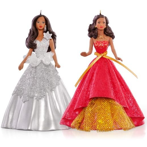 2015 2013 and 2014 Celebration Barbie Ornament Set Af-Am