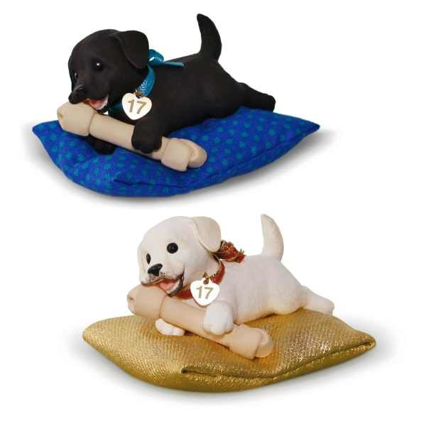 2017 Playful Puppy Surprise Mystery Ornament, Puppy Love Compliment