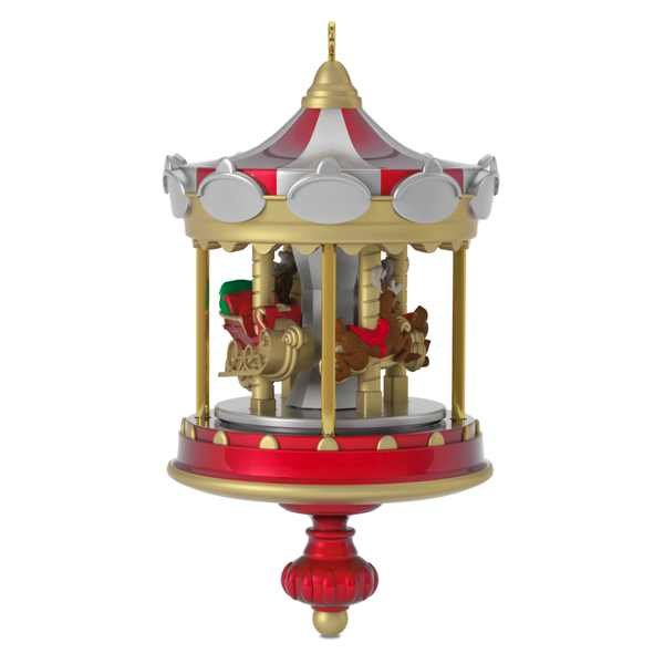 2017 christmas carousel 1 miniature - Hallmark Christmas Decorations 2017