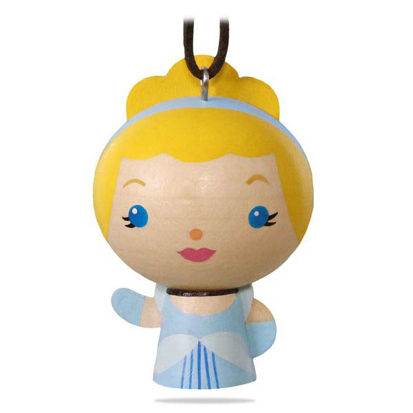 2018 Cinderella Ornament, Wood